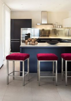 Trica Day Brushed Steel Backless