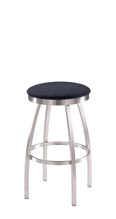 Trica Henry Brushed Steel Backless