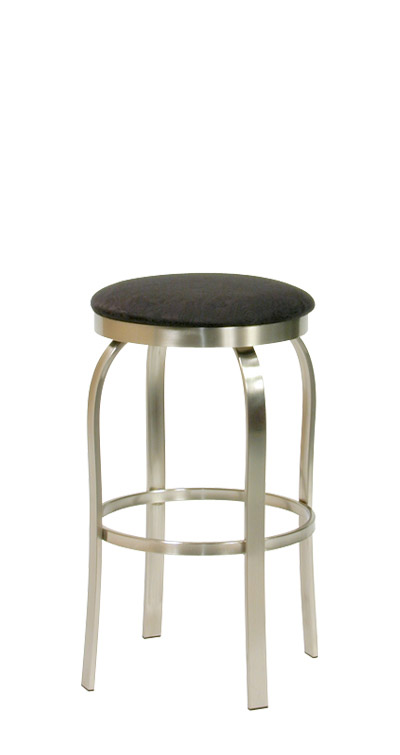 Trica Truffle Brushed Steel Backless