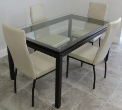 Amisco Robert Table And Curve Chairs