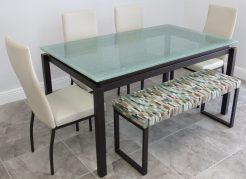 Crackle Glass Table