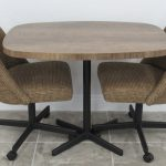 3 Piece Small Caster Dinette Set