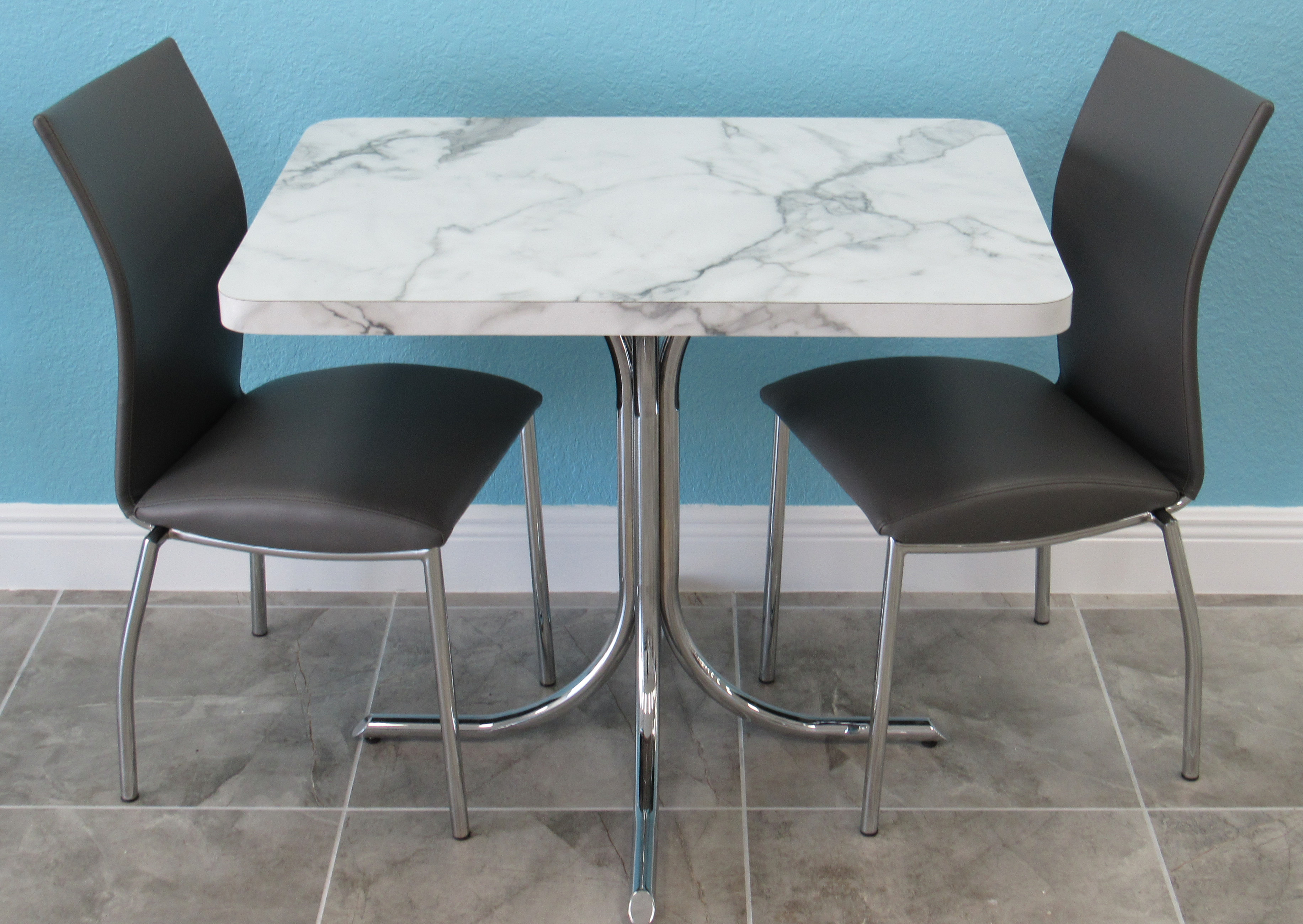 Formica Table With Small Chrome Kitchen Chairs Alfa Dinettes