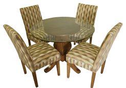Parson Chairs Wood Legs