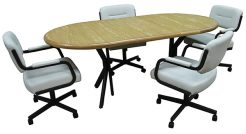 M110 Caster Chairs Dinette